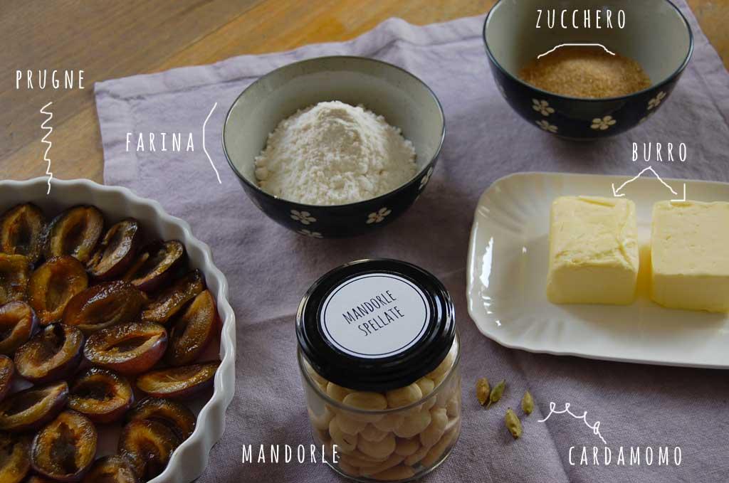 crumble di prugne ingredienti per il dolce