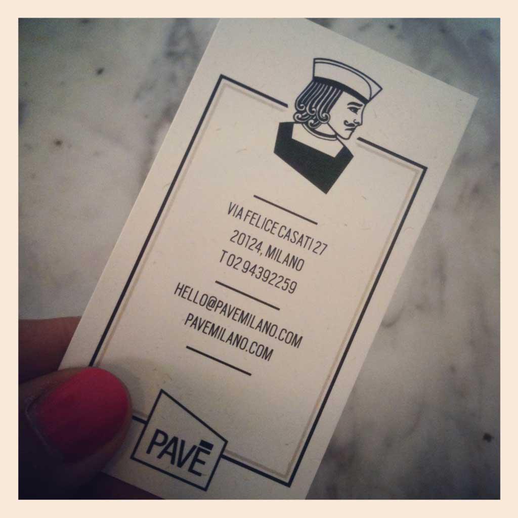 biglietto da visita pasticceria pavè milano per colazione mio compleanno