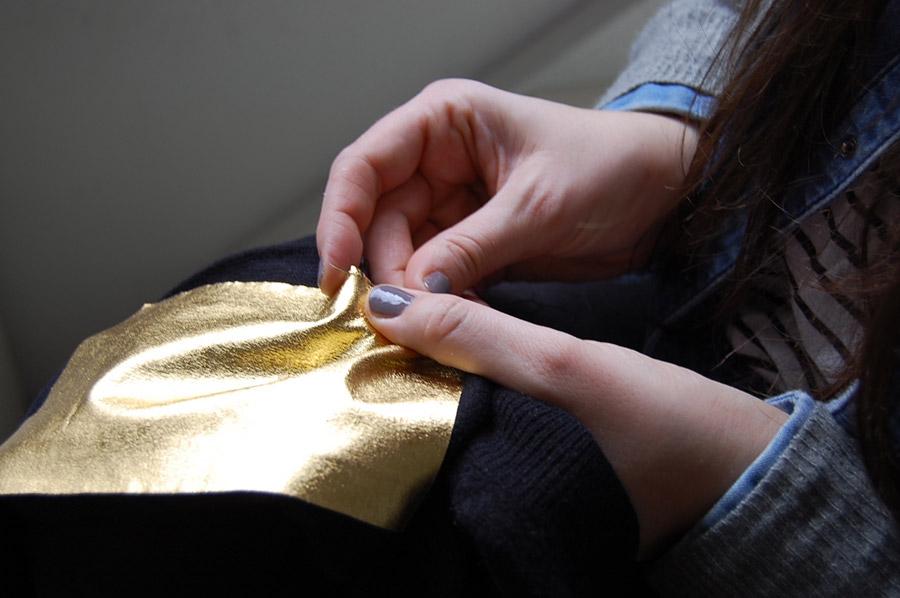 DIY toppe oro per una zadig & voltaire fai da te