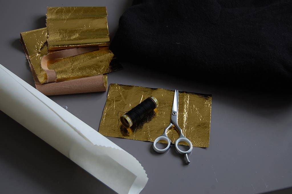 occorrente toppe oro per DIY Zadig & Voltaire fai da te