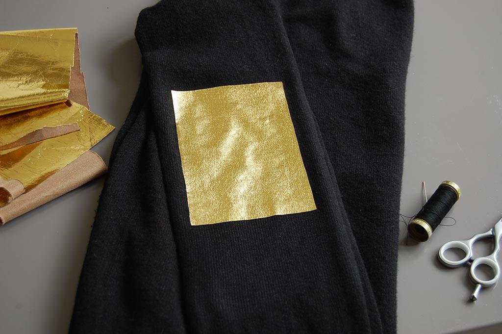 stirare la toppa DIY toppe oro per una zadig & voltaire fai da te