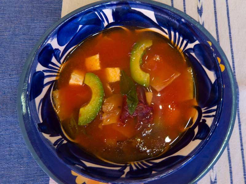 Oaxaca sopa atzeca