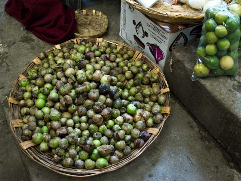 Tomatillos al mercato