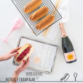 Hot Dog e Champagne Veuve Clicquot