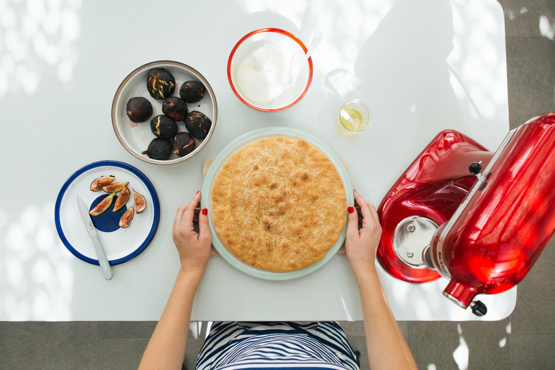 Focaccia con fichi, barrata e miele   La Colazione d'Estate con KitchenAid