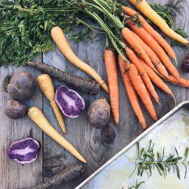Teglia di carote arrosto